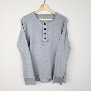 Grey Burberry Long Sleeve 3/4 Button Up